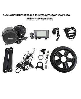 BAFANG BBS01B BBS02B BBSHD 250W-1000W E-bike Conversion Kit