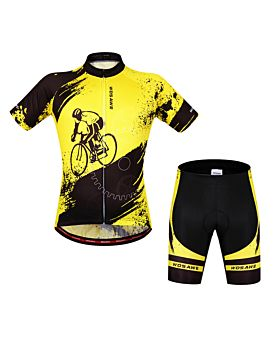 WOSAWE Summer Short Sleeve Cycling Jersey Set