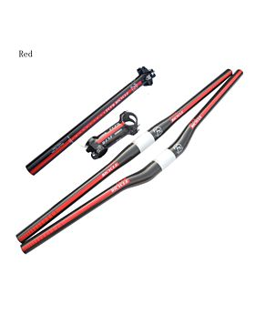 Carbon Handlebar Set MTB Bike Handlebar + Seatpost + Stem
