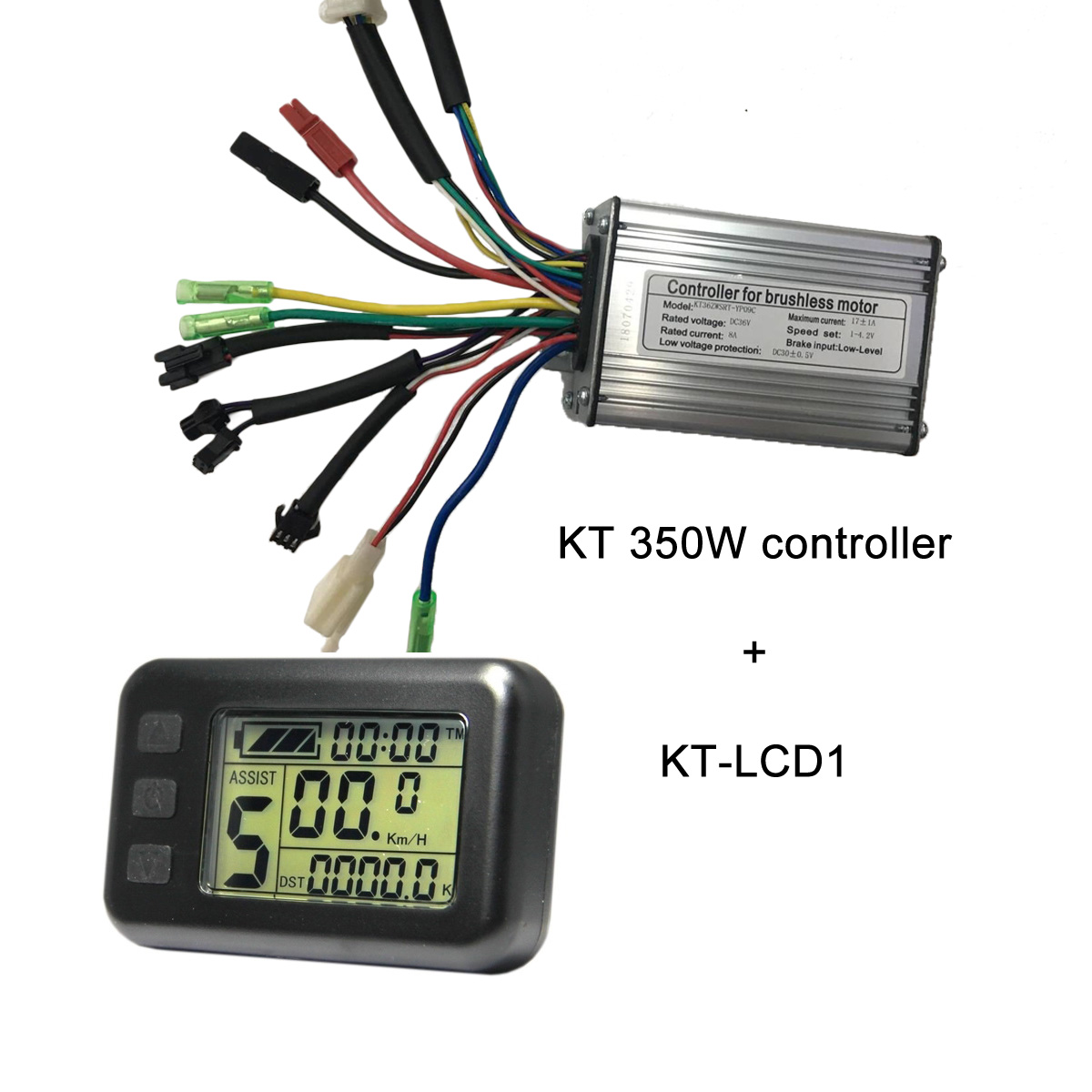KT 350W controllers with KT-LCD1 electric bike display